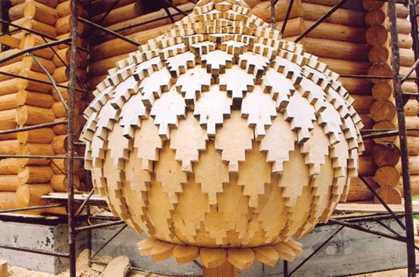 Церковный купол, выполненный