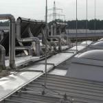 Молниезащита устройств, размещенных на крышах строительных объектов