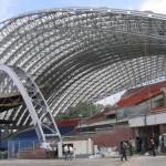 Витебский амфитеатр. Уникальное поликарбонатное покрытие над «славянским базаром»