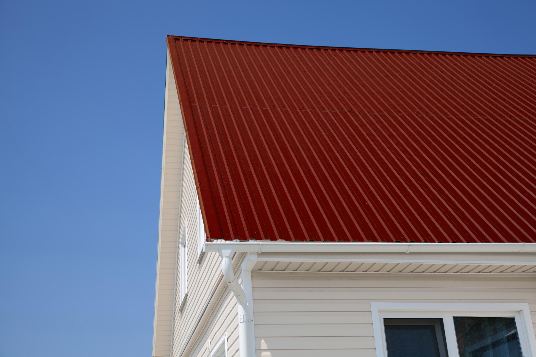 Крыши из профлиста фото