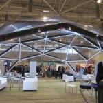 Пространственные конструкции Alpbau Struktura на выставке деревянного домостроения