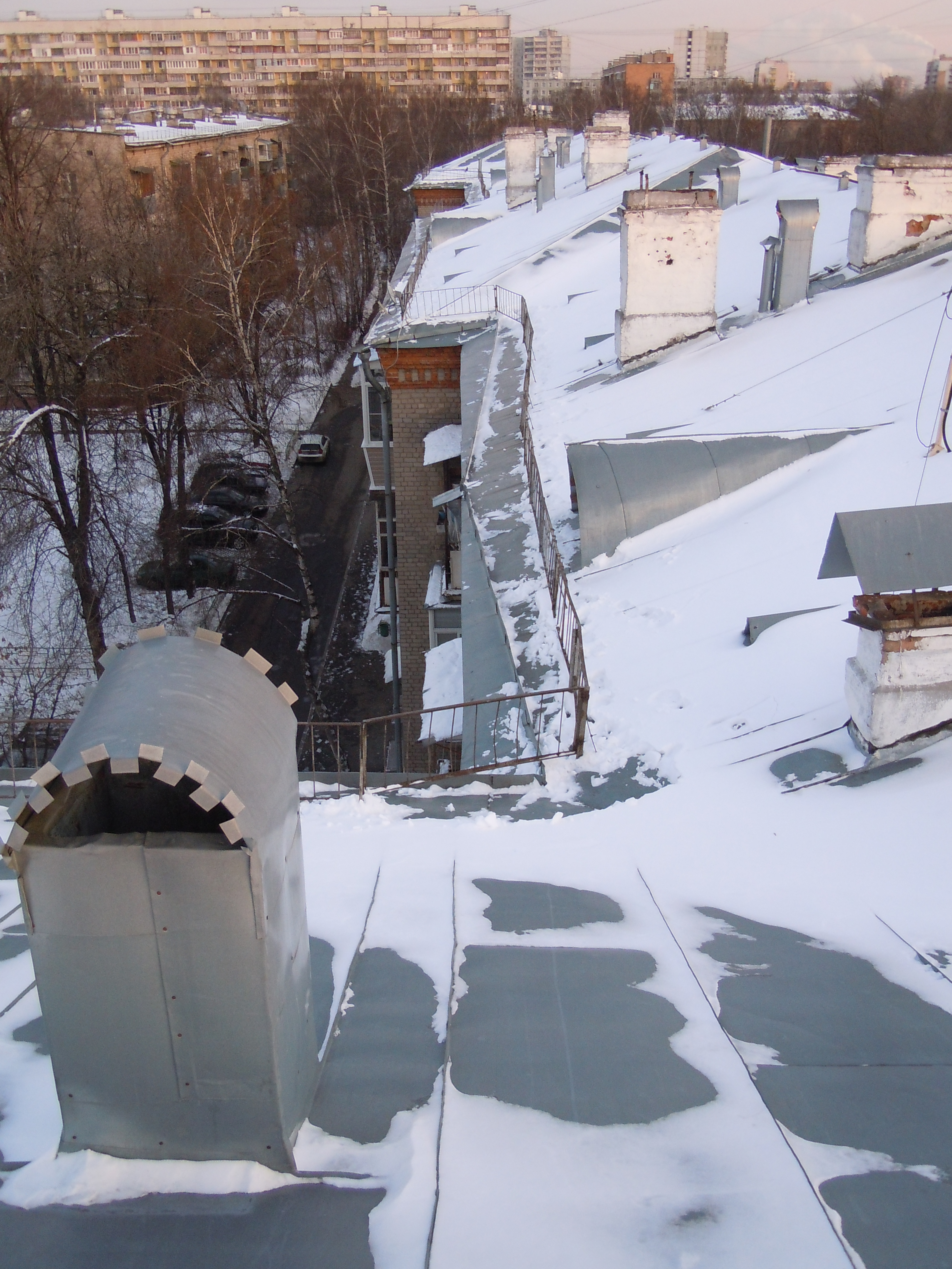 Нормы очистки снега с крыши