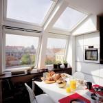Нестандартные варианты установки мансардных окон