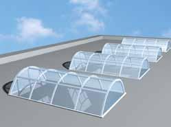 Зенитные фонари: выбор в пользу поликарбоната