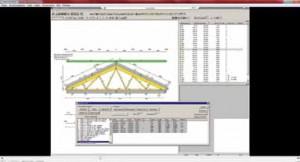 Рис. 15. Пример рабочего пространства модуля Engineering программы MiTek 2020