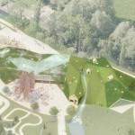 Игровой дом с «зеленой» крышей