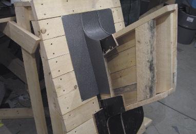 Изготовление верхней части «воротника» на макете