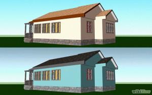 Один и тот же дом под темной и светлой крышей
