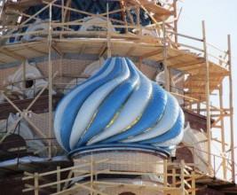 Необычный материал церковных куполов
