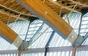 Крепление основной арки к бетонным несущим конструкциям