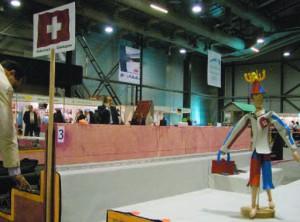 Произвольное задание команды Швейцарии на 22-м Чемпионате мира по кровельному мастерству в Санкт-Петербурге