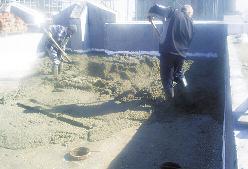 Формирование стяжки из бетона