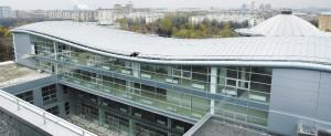 Фото 1. Кровля Третьего гуманитарного корпуса МГУ, выполненная по системе «Акритэк»