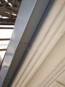 Подшивка фронтона и примыкание из перфорированного металла RHEINZINK®