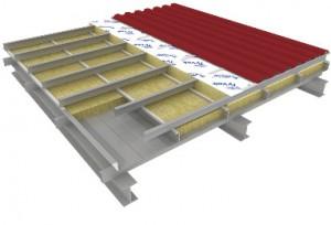 Конструкция кровельной сэндвич- панели поэлементной сборки с дополнительным утеплением