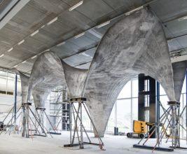 Опалубка с тросами упростила создание сложных и тонких конструкций из бетона