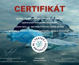 Мембрана FATRAFOL отмечена сертификатом «Испытано в Антарктиде»