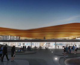 Аэропорт Хельсинки: теплоизоляция деревянных элементов крыши материалами URSA