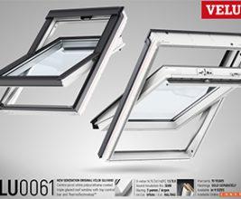Новое двухкамерное белое мансардное окно от Velux