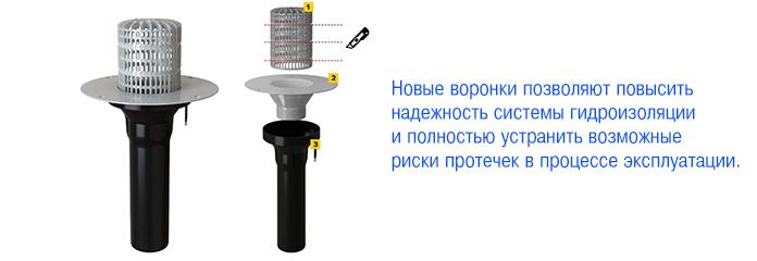 Новые усовершенствованные воронки для плоских кровель от ТЕХНОНИКОЛЬ